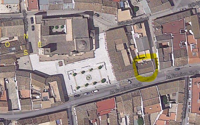 Imagen aérea de Villalba del Alcor (detalle)