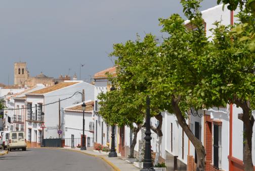 Vista de la entrada de Villalba del Alcor