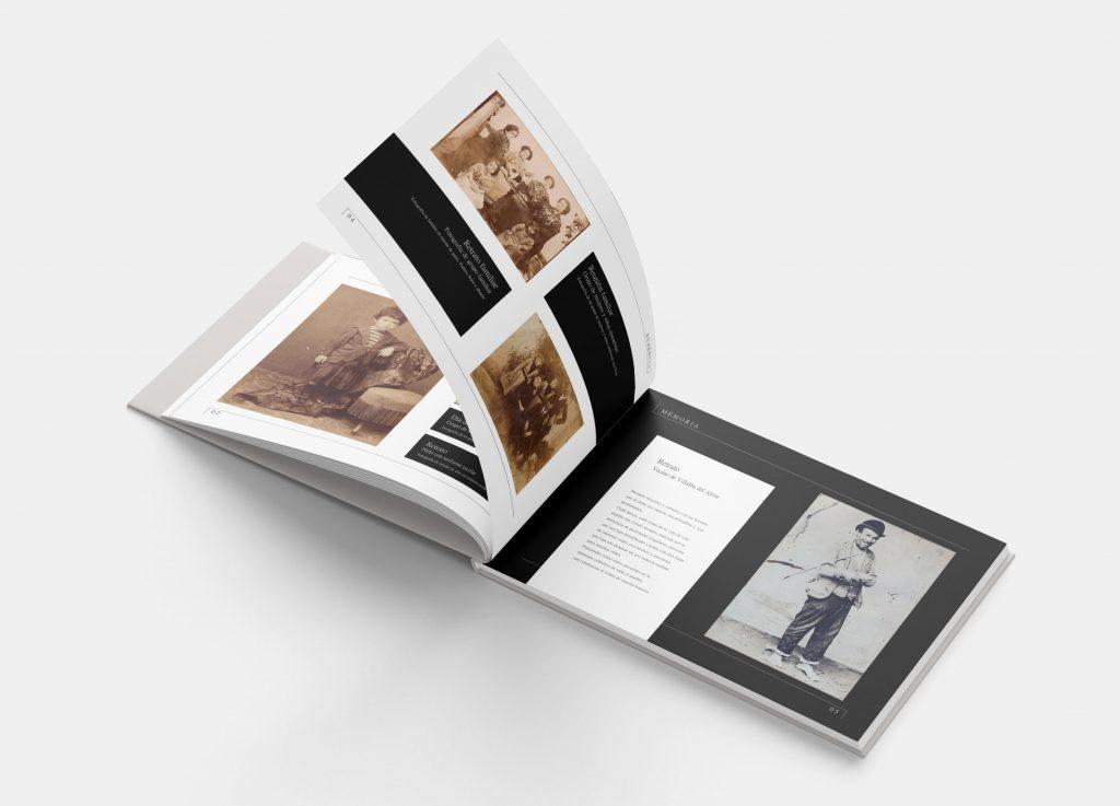 Imagen de páginas interiores proyecto libro fotografías antiguas de Villalba