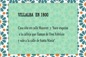 Texto con referencia al nombre de una calle de Villalba del Alcor