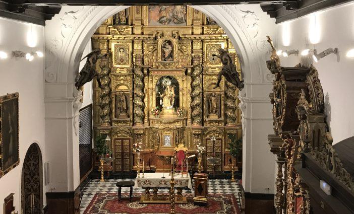 Interior iglesia conventual convento carmelita Villalba del Alcor