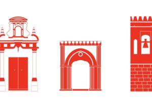 Ilustraciones patrimonio arquitectónico