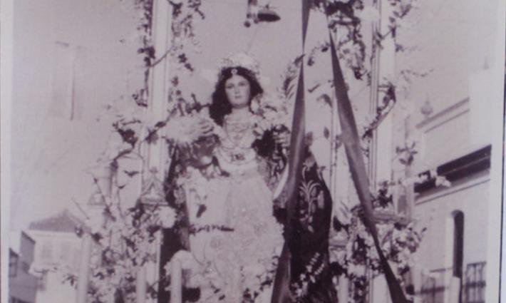 Antigua imagen de Santa Águeda